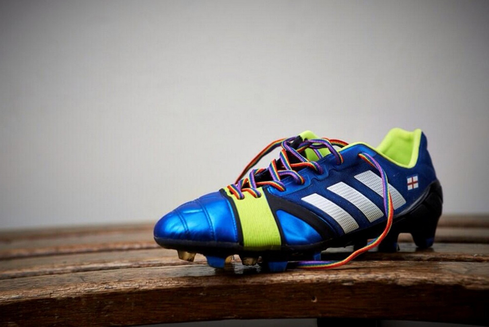 Joey Barton's new affirmative-action laces.
