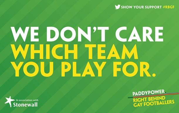 The Stonewall/Paddy Power slogan.