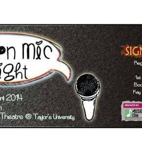 UPCOMING EVENT: 'Open Mic Night #4' by Taylor's University's MusicClub