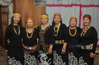 The traditional Kelabit garb for women.