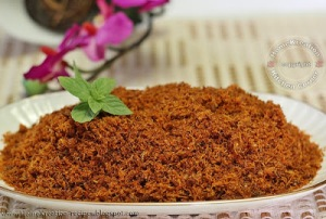 [Image credit: HomeKreation – Kitchen Corner - http://homekreation-recipes.blogspot.com/2012/07/dried-shrimp-serunding-serunding-udang.html ]
