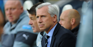 Alan Pardew is a relieved man as Newcastle finally picked up their first win of the season. (Source: skysports.com)