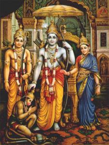 Lord Rama, Sita and Lakshmana