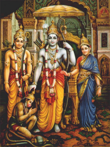 Lord Rama, Sita and Lakshmana