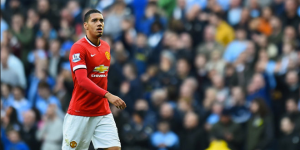 Chris Smalling looking solemn after getting sent off. (Source: skysports.com)