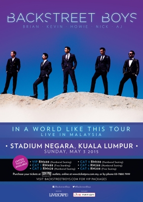 Backstreet Boys' – In A World Like This Tour LIVE inMalaysia