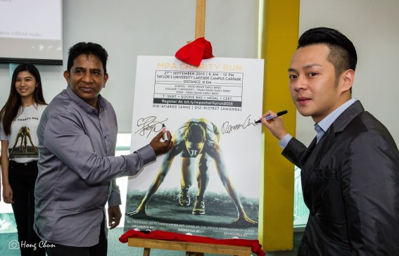 The launch of the MPA Charity Run [ Image credits: Sim Hong Chun ]