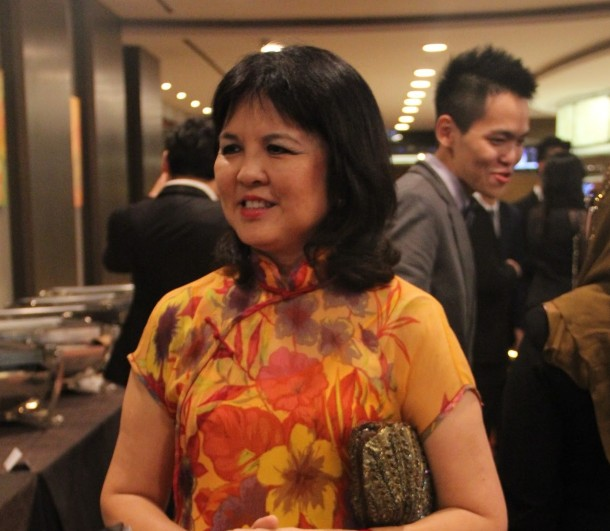 Ms Ang, the supervisor of the QS society.